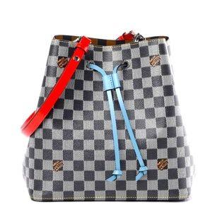 Louis Vuitton NeoNoe Damier Black/White checker bucket LV bag Nicolas Ghesquiere